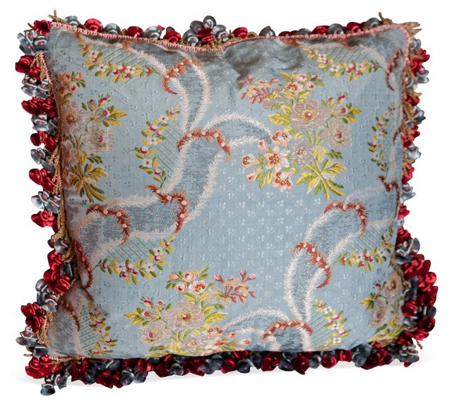 French Floral Brocade Pillow