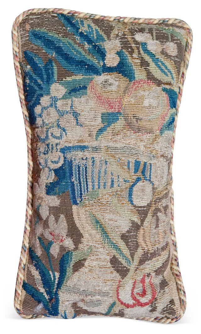Large Floral Bouquet Tapestry Fragment