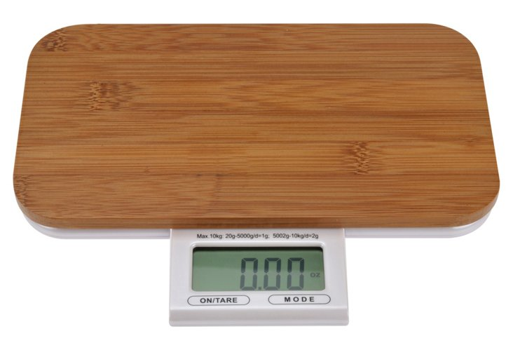 Electronic Bamboo Kitchen Scale