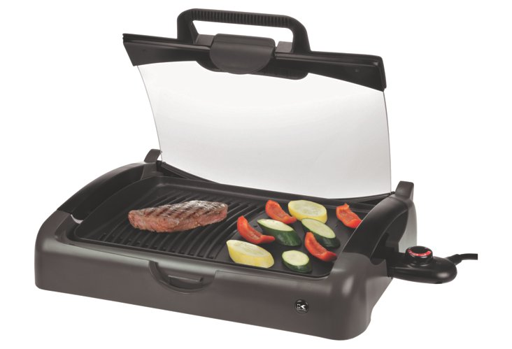 Indoor/Outdoor Carry Grill w/ Glass Lid