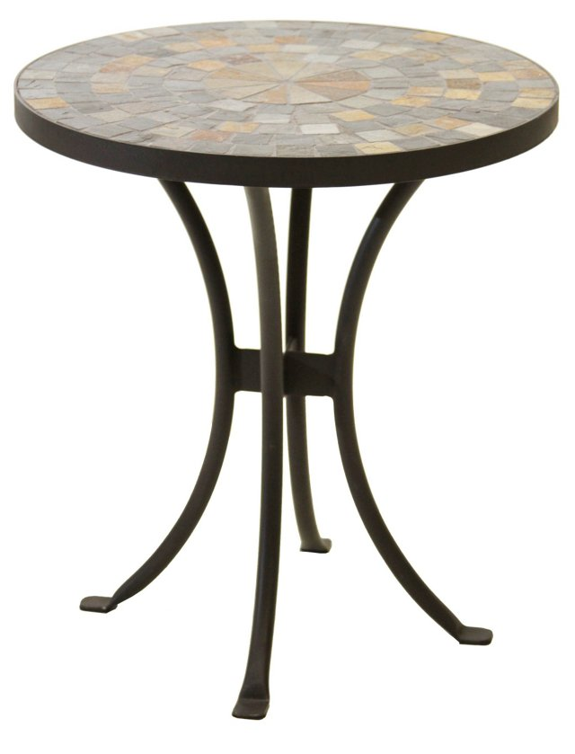Slate Mosaic Outdoor Side Table
