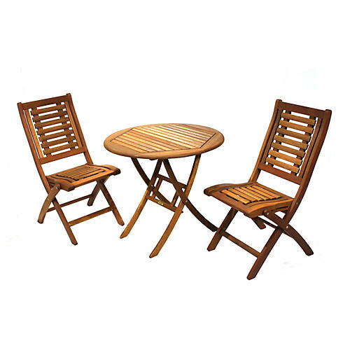 3-Pc Brazilian Bistro Set, Natural