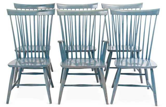 Country-Chic Dining Chairs, Set of 6