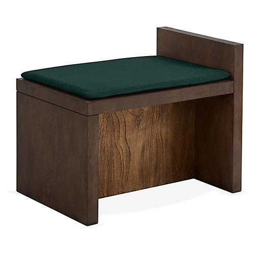 Together Bench, Midnight Green/Natural