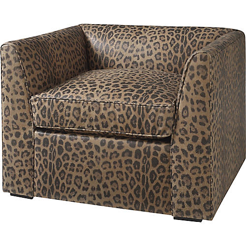 Charmer Club Chair, Beige/Black