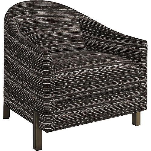 Brute Club Chair, Black/White