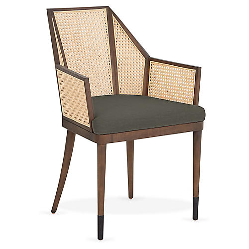 Cane Armchair, Smoke Ash/Natural