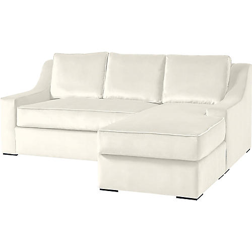 """Studio 71"""" Sectional w/Movable Ottoman, Oyster"""
