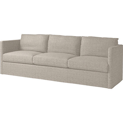 "Steady 95"" Sofa, Light Gray"
