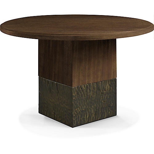 """Solid 48"""" Dining Table, Natural"""