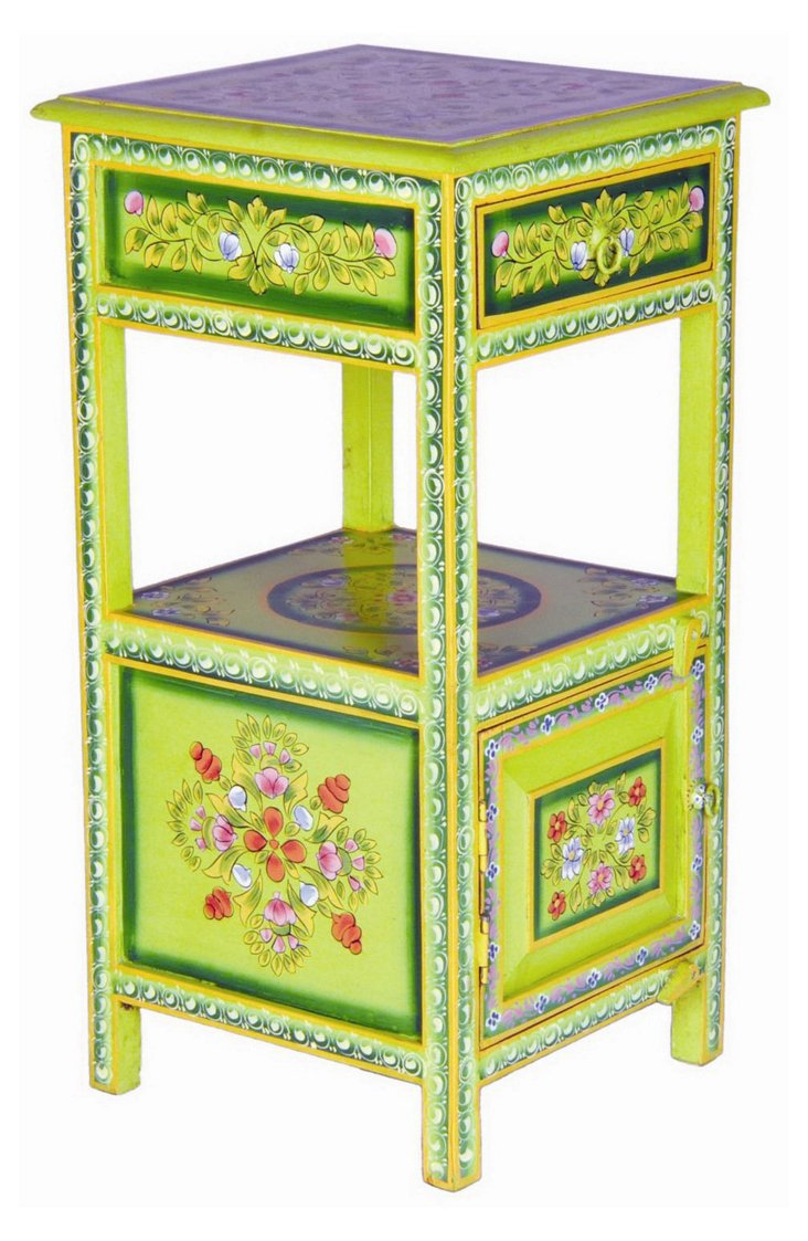 Jed Hand-Painted Telephone Table