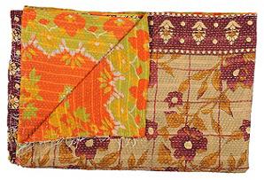 Kantha Handstitched Quilt, Manasquan