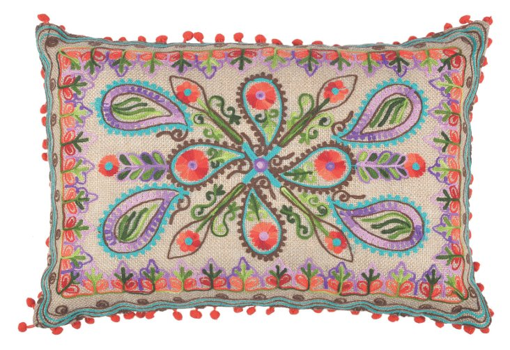 Paisley 14x20 Pillow, Multi