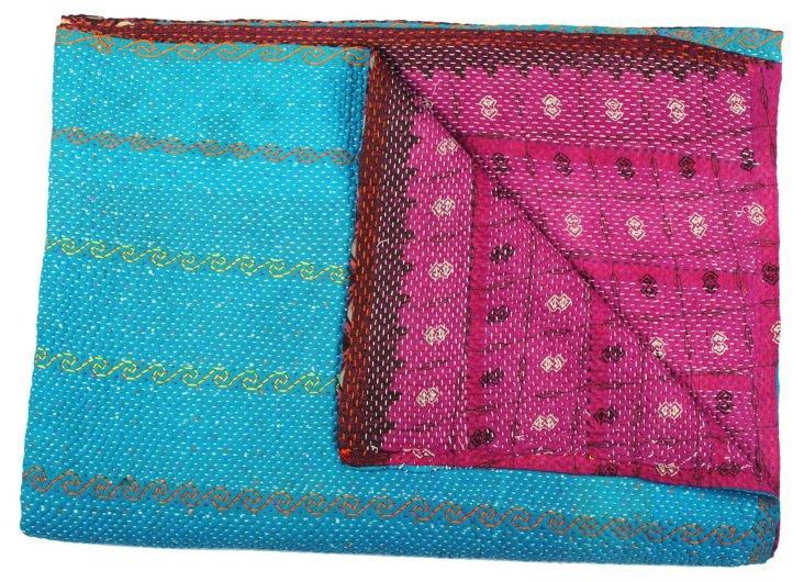 Hand-Stitched Kantha Throw, Christina