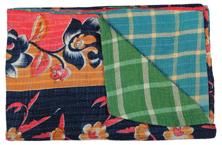 Hand-Stitched Kantha Throw, Columbia