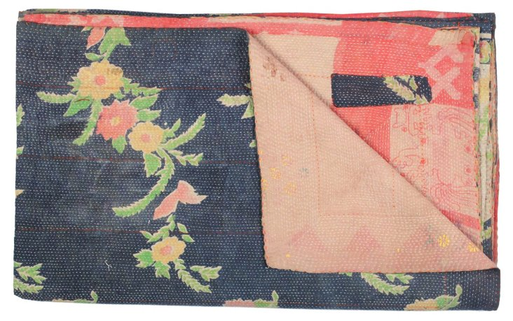 Hand-Stitched Kantha Throw, Castelo