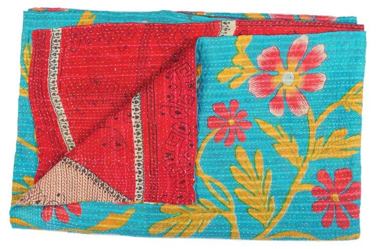 Hand-Stitched Kantha Throw, Humachal