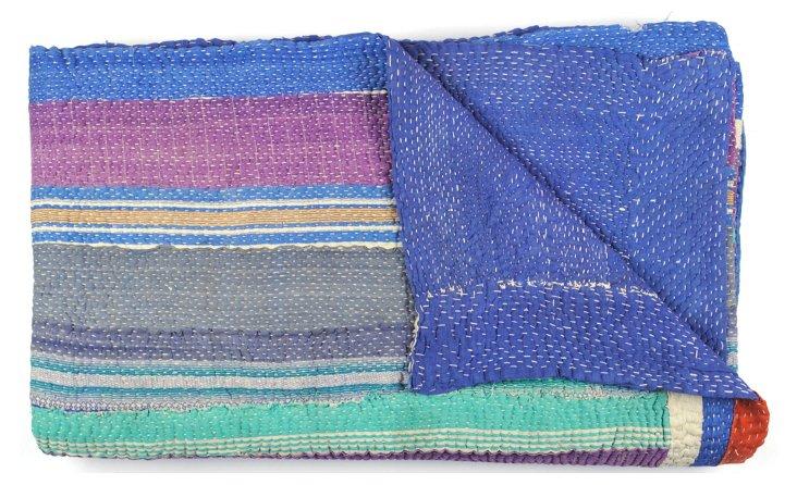 Hand-Stitched Kantha Throw, Baracco