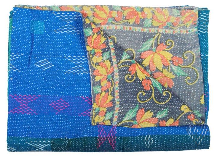Hand-Stitched Kantha Throw, Balrama