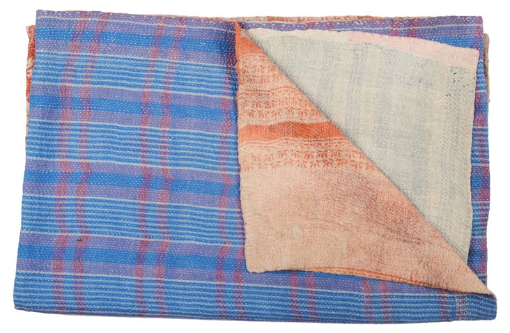 Hand-Stitched Kantha Throw, Safi