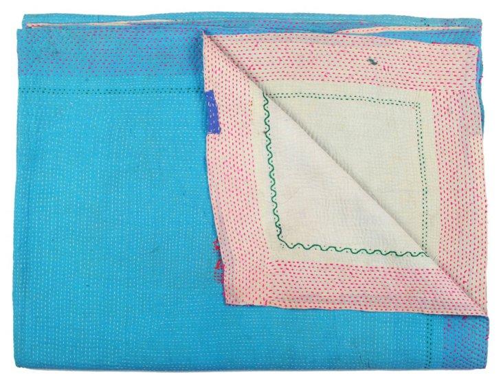 Hand-Stitched Kantha Throw, Nadia