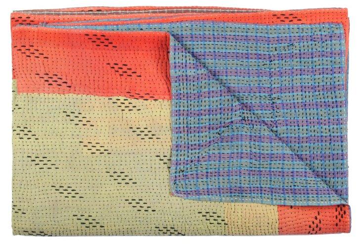 Hand-Stitched Kantha Throw, Nandini