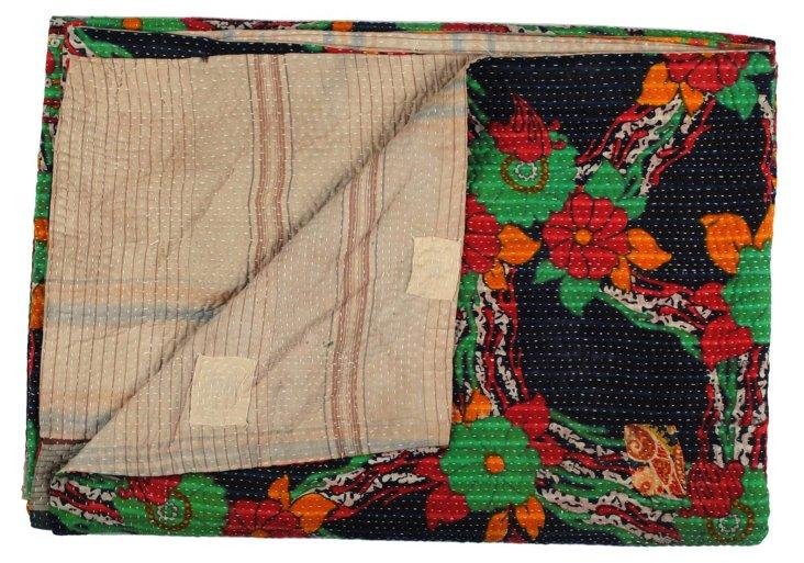 Hand-Stitched Kantha Throw, Beli