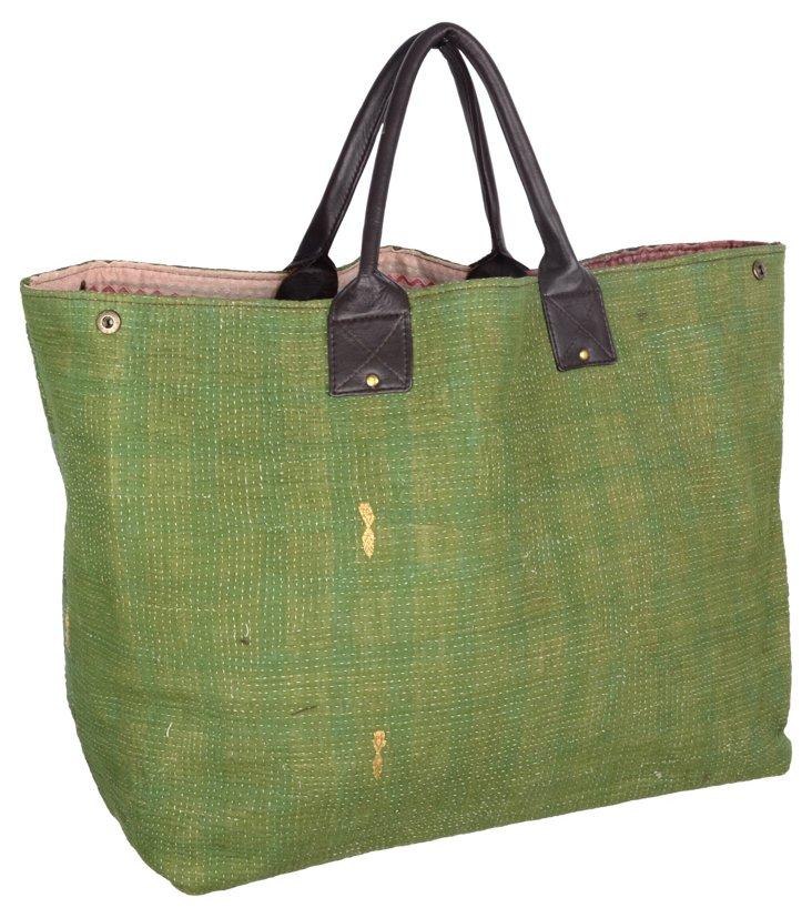 Kantha Tote,  Frost
