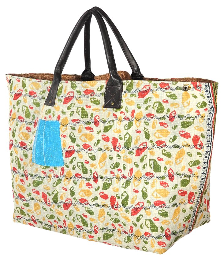 Kantha Tote,  Twisted