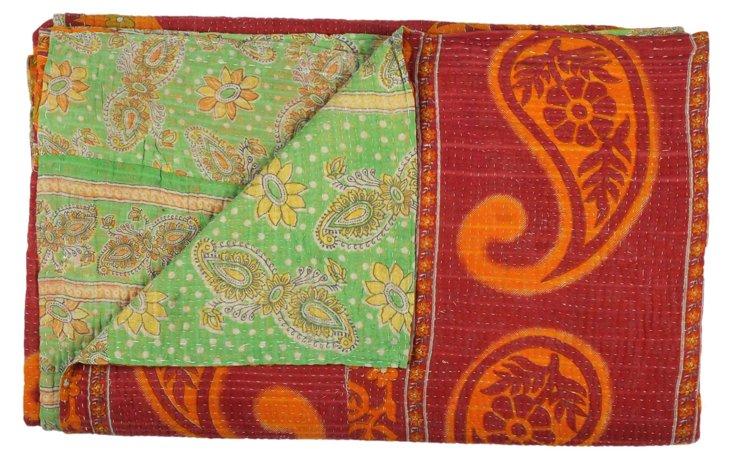 Hand-Stitched Kantha Throw, Jasmina
