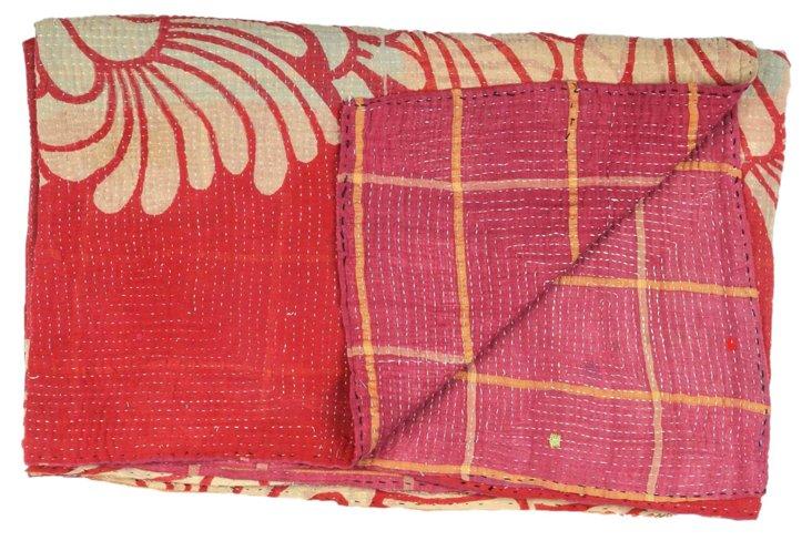 Hand-Stitched Kantha Throw, Sulawesi