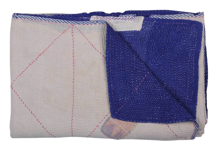 Hand-Stitched Kantha Throw, Island