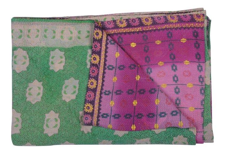 Hand-Stitched Kantha Throw, Eileen