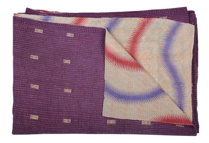 Hand-Stitched Kantha Throw, Allison
