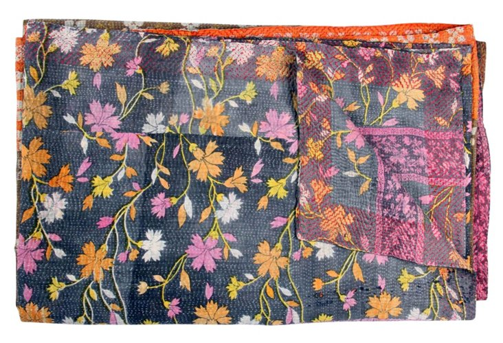 Hand-Stitched Kantha Throw, Kylie