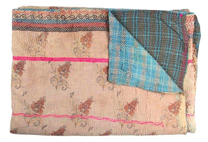 Hand-Stitched Kantha Throw, Jammu