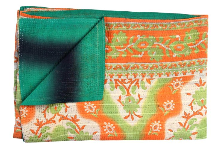 Hand-Stitched Kantha Throw, Castelo