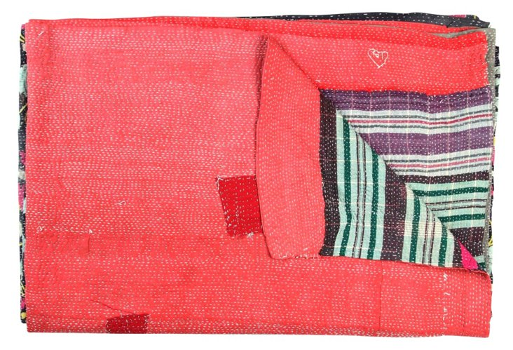 Hand-Stitched Kantha Throw, Lovanla