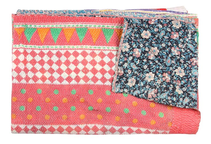 Hand-Stitched Kantha Throw, Bichena