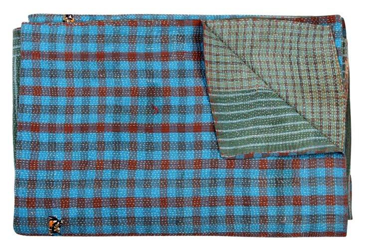 Hand-Stitched Kantha Throw, Indira