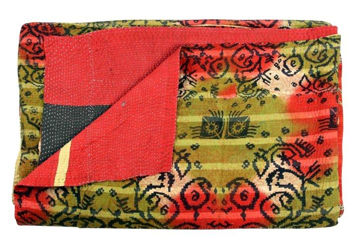 Hand-Stitched Kantha Throw, Tanaya