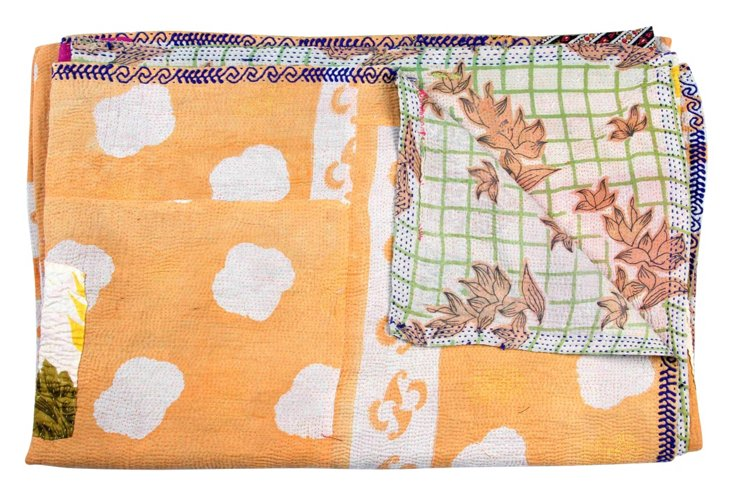 Hand-Stitched Kantha Throw, Tanuja