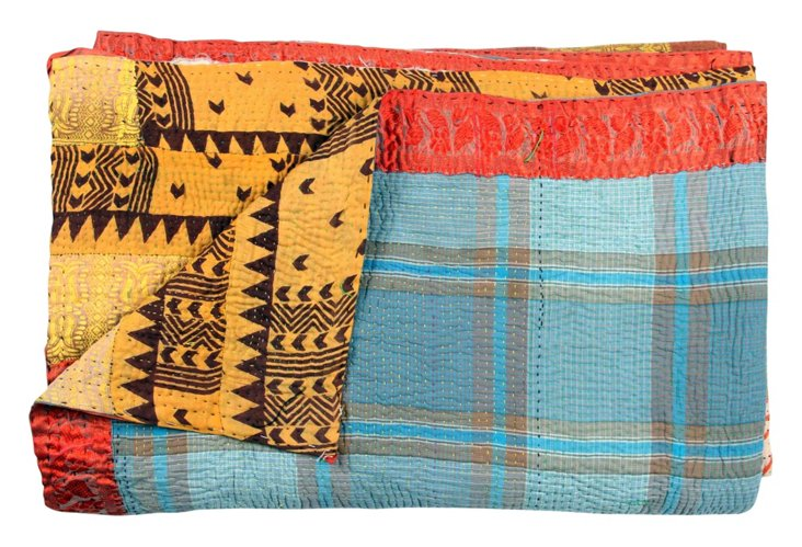 Hand-Stitched Kantha Throw, Namita