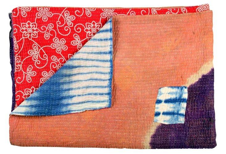 Hand-Stitched Kantha Throw, Nishtha