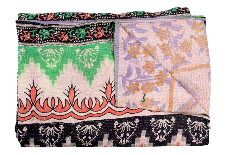 Hand-Stitched Kantha Throw, Dream