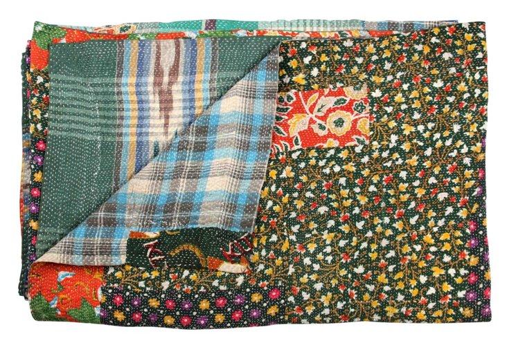 Hand-Stitched Kantha Throw, Bahula