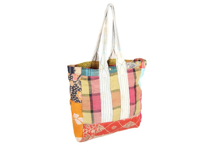Kantha Multipatch Tote, Cambay