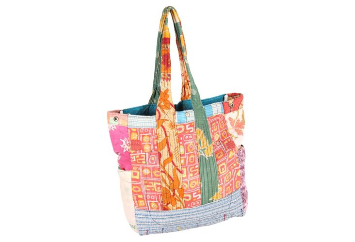 Kantha Multipatch Tote, Verano