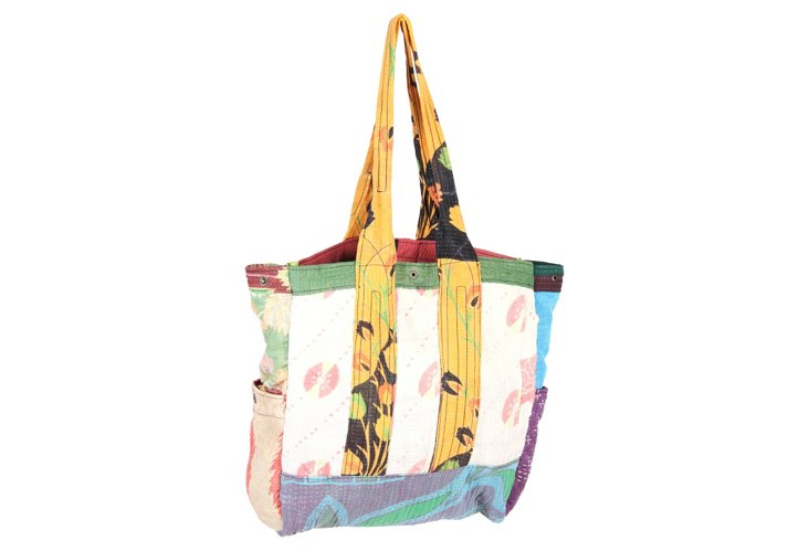 Kantha Multipatch Tote, Madison