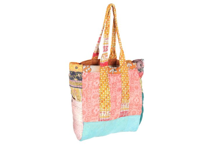 Kantha Multipatch Tote, Holly